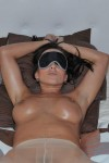 Horny slave Cindy gets tied, blindfolded and fucked