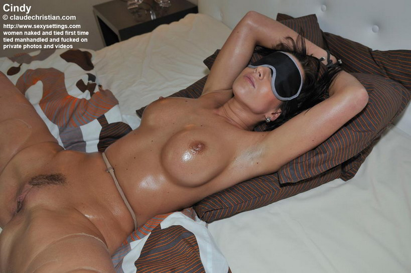 Tied blindfolded and fucked