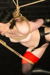 Young slave Claire Adams tightly tied and tortured