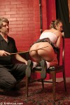 Spanked schoolgirl roleplay with real masochist Evie