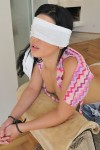 Rihanna blindfolded and teased