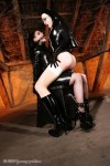 Bizarre Latex Nun dominates submissive Pupett