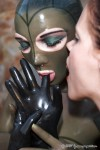 Submissive Pupett enslaved and dominated in latex by Mistress Jill Diamond