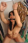 Handcuffed and gagged slave Rachael forgotten in the closet
